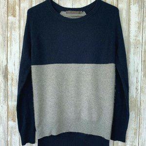 Feel the Piece Blue Gray Crewneck Sweater XS/S